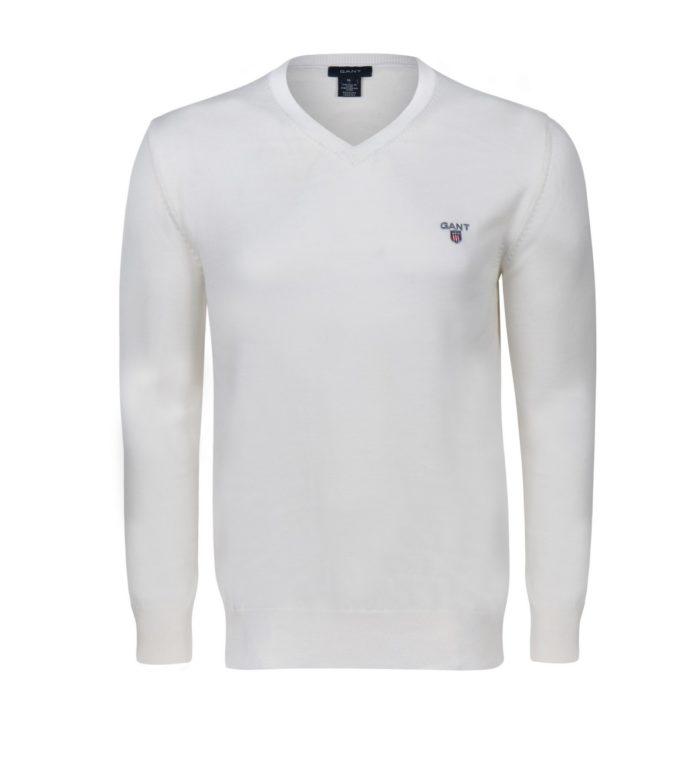 Gant Pullover V-Neck weiss
